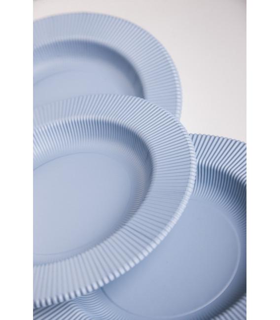 Piatti Piani di Carta Opaco a Righe Carta da Zucchero 27 cm