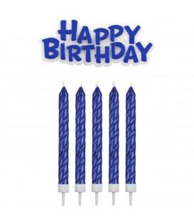 PME Candeline e Happy Birthday Blu 17 Pz