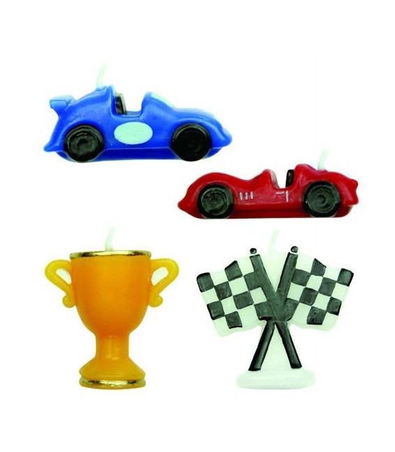 Candeline Auto da Corsa 4 Pz PME