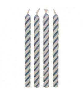 PME Candeline a Strisce Blu 24 pz