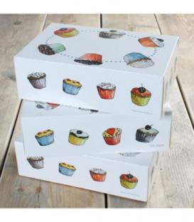 Box 6 Cupcakes 24 x 16 x 8 cm e Inserto 3 Pz FunCakes