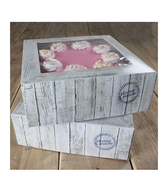 Scatola per Torta Home Made 21 x 21 x 9 cm 2 Pz FunCakes