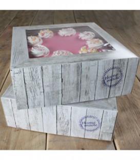 Scatola per Torta Home Made 26 x 26 x 12 cm 2 Pz FunCakes