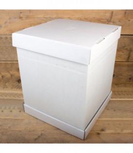 Scatola per Torta Bianca 37 x 37 x 45 cm 1 Pz FunCakes