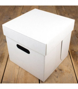 Scatola per Torta Bianca 25.5 x 25.5 x 25 cm 1 Pz FunCakes