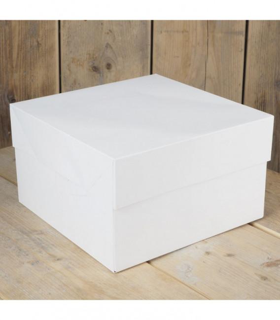 Scatola per Torte Bianca 20 x 20 x 15 cm 1 Pz FunCakes