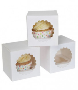 1 Cupcake Box Bianco 3 Pz House of Marie