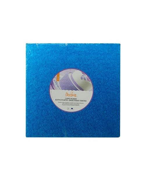 Sottotorta Vassoio Rigido Quadrato Blu H 1,2 cm