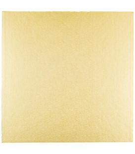 Sottotorta Vassoio Rigido Quadrato Oro H 1,2 cm