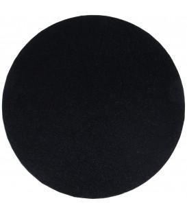 Sottotorta Vassoio Rigido Tondo Nero H 1,2 cm