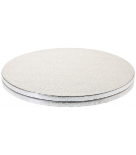 Sottotorta Vassoio Rigido Tondo Argento H 1,2 cm