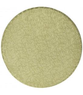 Sottotorta Vassoio Rigido Tondo Oro H 1,2 cm