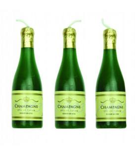 Candele Bottiglia di Champagne 6 Pz