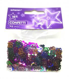 Coriandoli - Confetti da Tavola 18 Anni 14 g