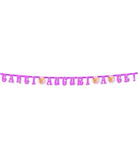 Festone con Lettere Sagomate TANTI AUGURI A TE rosa 316 cmFestone con Lettere Sagomate Buon Compleanno 357 cm