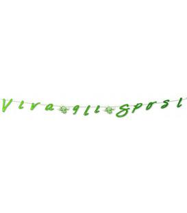 Festone con Lettere Sagomate VIVA GLI SPOSI 245 cm