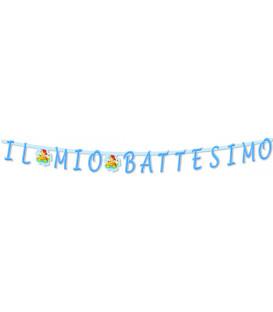 Festone con Lettere Sagomate IL MIO BATTESIMO 281 cm