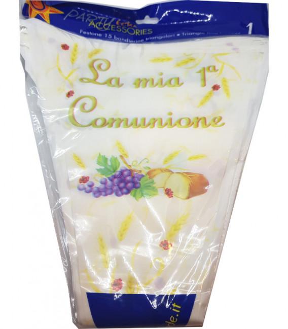 Festone con Bandierine LA MIA PRIMA COMUNIONE 15 Bandierine 600 cm