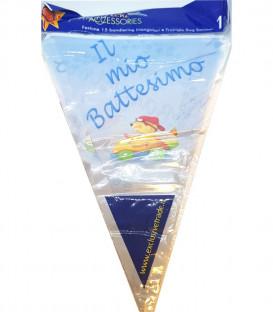 Festone con Bandierine IL MIO BATTESIMO BLU 15 Bandierine 600 cm