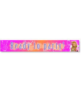 Festone Ready to Party Hanna Montana Glitter e Shine Disney