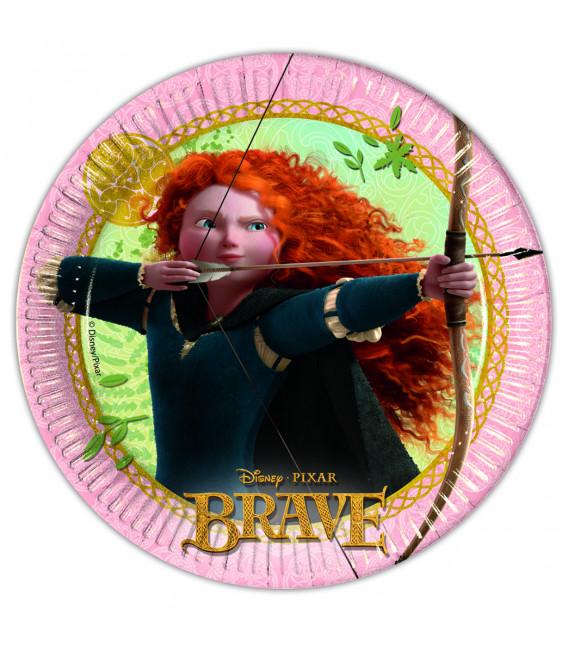 Piatto Piano Piccolo di Carta 20 cm Brave Disney Pixar