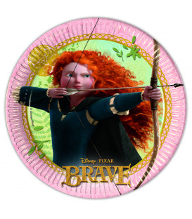 Piatto Piano Piccolo di Carta 20 cm Brave Disney Pixar