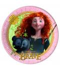 Piatto Piano Grande di Carta 23 cm Brave Disney Pixar