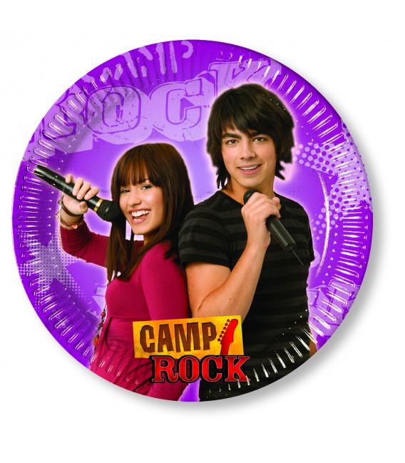 Piatto Piano di Carta Piccolo 20 cm Camp Rock Disney Channel