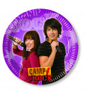 Piatto Piano di Carta Piccolo 20 cm Camp Rock Disney Channel