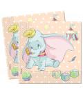 Tovaglioli 33 x 33 cm 2 Veli Dumbo Baby Disney 3 Confezioni