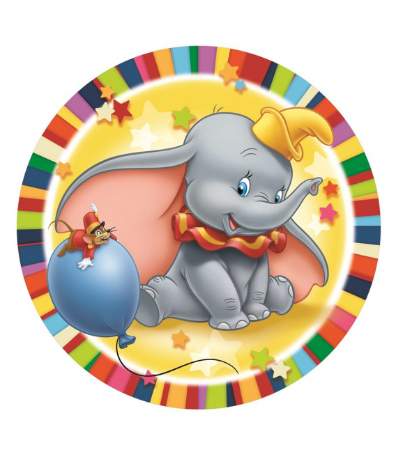 Piatto Piano Grande di Carta 23 cm Dumbo Disney