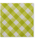 Tovaglioli Vichy a Quadri Bianco Verde Lime 33 x 33 cm