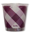 Bicchieri di Plastica Vichy a Quadri Bianco Prugna 300 cc