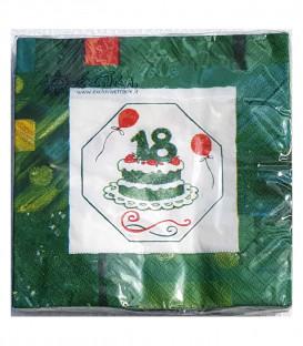 Tovaglioli 3 Veli Diciottesimo Compleanno