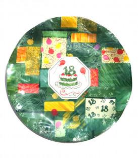 Piatti Piani di Carta Diciottesimo Compleanno 21 cm