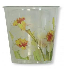 Bicchieri di Plastica 300 cc Floreali Narcisi 3 Confezioni
