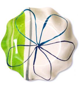 Piatti Fondi di Carta a Petalo Fresh Green