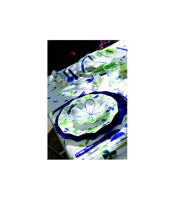 Piatti Fondi di Carta a Petalo Fresh Green 18,5 cm