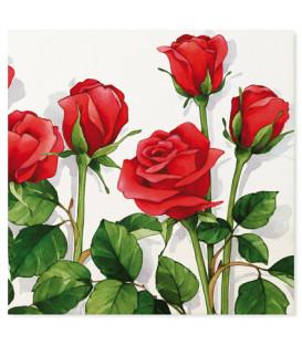 Tovaglioli 3 Veli Rose Rosse