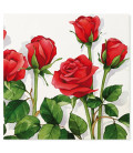 Tovaglioli 3 Veli Rose Rosse 33 x 33 cm 3 confezioni