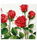 Tovaglioli 3 Veli Rose Rosse 33x33 cm 3 confezioni