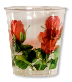 Bicchieri di Plastica 300 cc Rose Rosse 3 confezioni