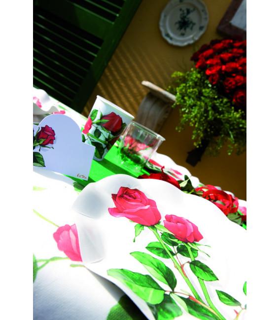 Bicchieri di Plastica Rose Rosse 300 cc