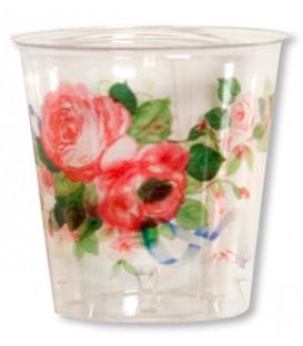 Bicchieri di Plastica Cachepot di Eleganza 300 cc