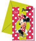 Biglietti Inviti Compleanno Minnie Fashion Boutique Disney