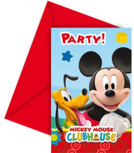 Biglietti Inviti Compleanno Club House PlayFul Mickey Mouse Disney