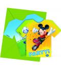Biglietti Inviti Compleanno Mickey Mouse Goal Team Disney
