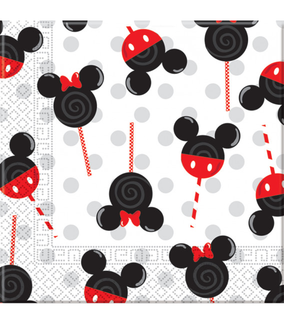 Tovaglioli 33 x 33 cm 3 Veli Mickey e Minnie Candies e Lollipops Disney