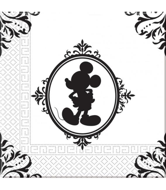 Tovaglioli 33 x 33 cm 3 Veli Mickey Mouse Barocco Disney