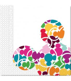 Tovaglioli 33 x 33 cm 3 Veli Mickey Mouse Colourful Arcobaleno Disney